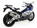 Works Titanium silencer with carby end cap for stock collectors BMW S 1000 RR 2015-2016