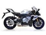 """Indy Race Aluminium """"Dark"""" silencer with carby end cap Yamaha YZF 1000 R1 2015-2016 Arrow 71829AKN"""