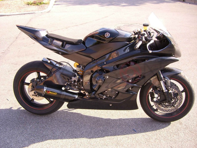 Carbon fiber complete racing fairings kit yamaha r6 2008 for Yamaha r6 carbon fiber exhaust