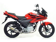 Non catalized mid-pipe Honda CBF 125 2009-2014
