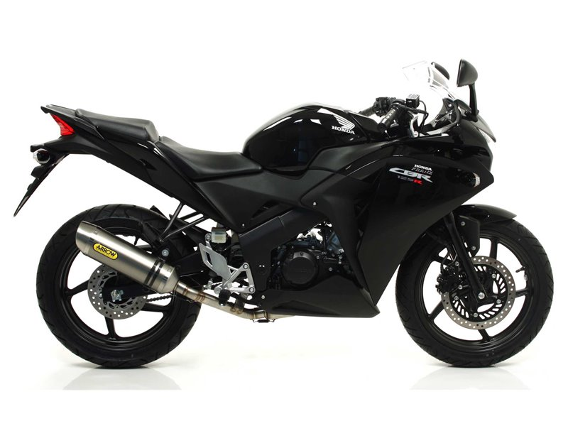 non catalized mid pipe honda cbr 125 r 2011 2016 arrow 51005mi. Black Bedroom Furniture Sets. Home Design Ideas