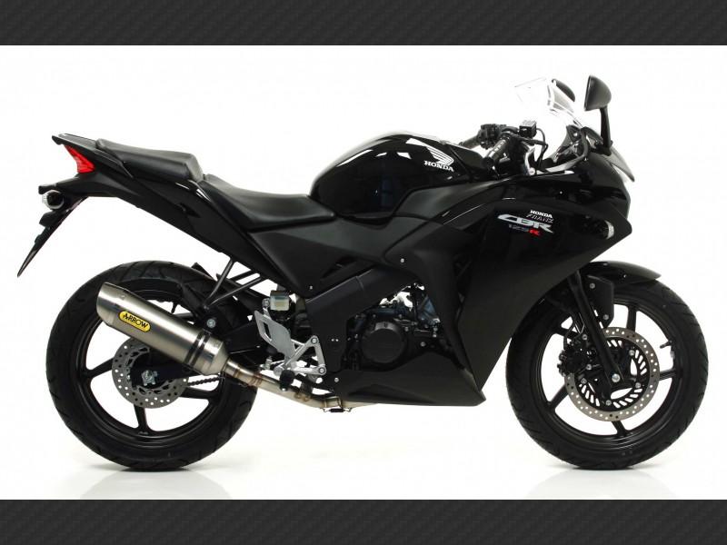 125 non catalized mid pipe honda cbr 125 r 2011 2016 arrow 51005mi 125cc motorcycle non catalized mid pipe honda cbr 125 r