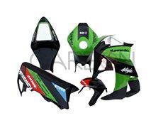 Kit Carena Completa Racing Replica Sbk 2015 Green Kawasaki ZX-10 R 2008-2009