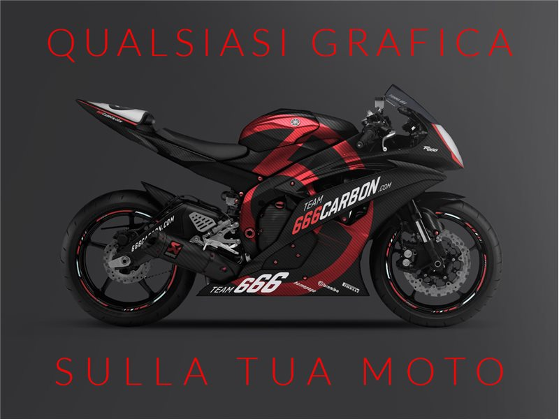Kit Carena Completa Racing Verniciatura Personalizzata Yamaha Yzf R on Yamaha R6 Motorcycle Model Kits
