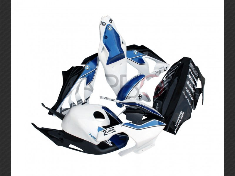 Complete Fairing Kit Racing Hp4 Blu Bmw S 1000 Rr 2012 2014