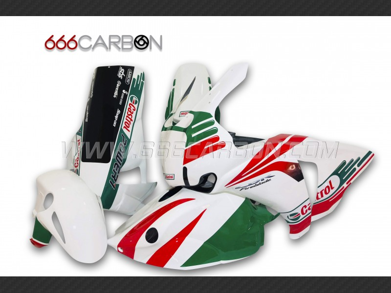 Complete Fairing Kit Racing Fiberglass painted design 3 Honda CBR 1000 RR 2017-2018