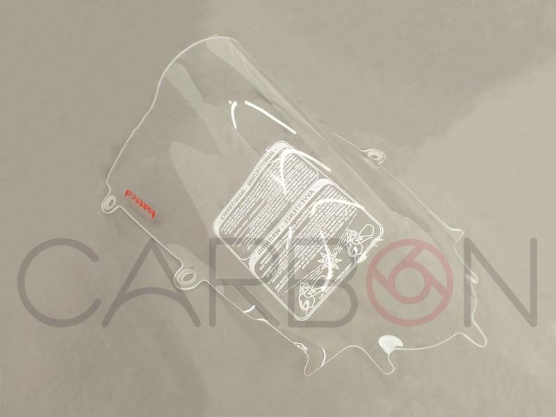Plexiglas double bubble transparent F.Fabbri Yamaha R6 2017-2019