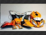 Complete fairing kit Racing Replica Sbk 2015 Orange Kawasaki ZX-10 R 2016