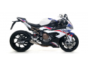 BMW S1000RR 2019-2020 Kit completo COMPETITION LOW FULL TITANIUM con fondello a rete ARROW 71205CPF