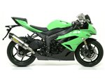 """COMPETITION """"EVO-2 Full Titanium"""" full system with dBKiller with carby end cap Kawasaki ZX-6R 2009-2016 Arrow 71132CKZ"""