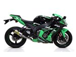 Half system racing - Race-Tech titanium silencer + titanium link pipe ø60mm. Kawasaki ZX-10R 2016- Arrow 71155HK