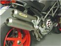 Round-Sil titanium road approved silencers (upper & lower) with carby end cap Ducati MONSTER S4R 2003-2006