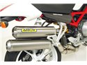 Round-Sil titanium road approved silencers (upper & lower) with carby end cap Ducati MONSTER S4RS Testastretta 2006-2007