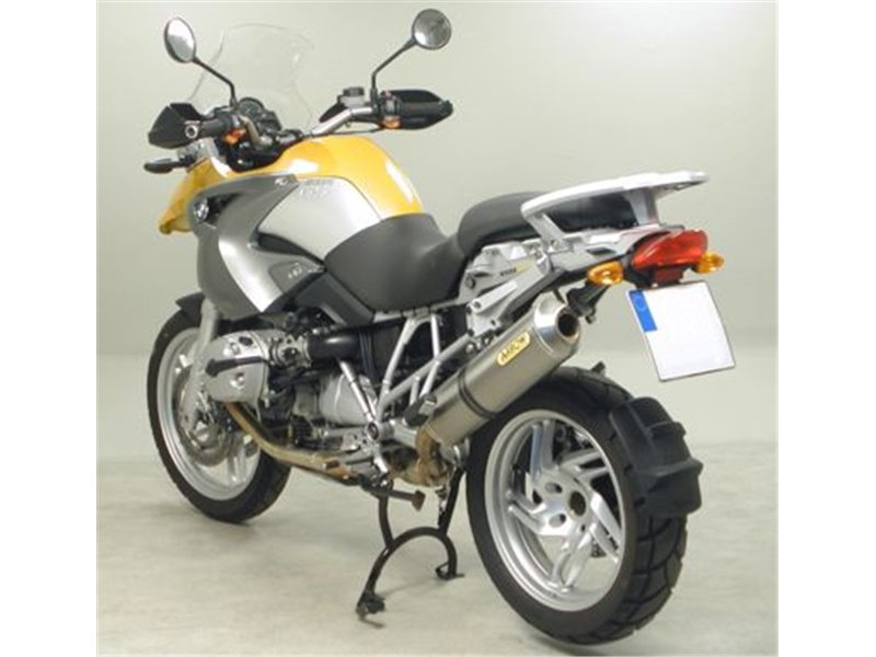 Maxi Race Tech Aluminium Quot White Quot Silencer With Carby End Cap Bmw R 1200 Gs 2004 2005 Arrow 71689akb