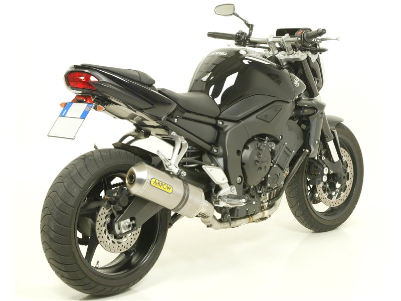 Maxi Race Tech Aluminium Dark Silencer With Carby End Cap Yamaha Fz1