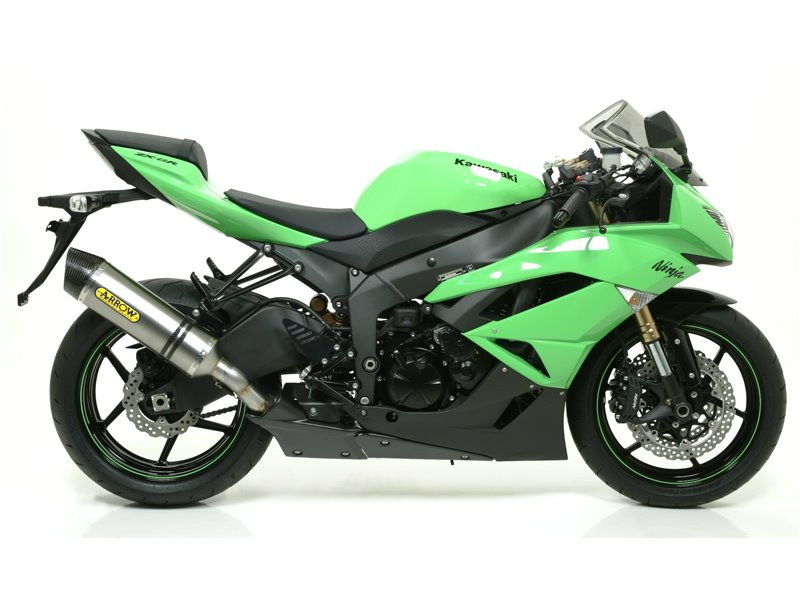 "Silencieux Race-Tech Aluminium ""Dark"" approuvé Kawasaki ZX-6R 2009-2016"