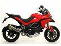 Terminale race-tech approved titanio con fondello carby Ducati Multistrada 1200 / 1200S 2010-2014 Arrow 71768PK
