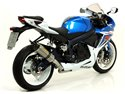 "Thunder aluminium ""White"" silencer with carby end cap Suzuki GSX-R 750 i.e. 2011-2016 Arrow 71772AKB"