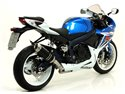 "Street Thunder aluminium ""Dark"" silencer with carby end cap Suzuki GSX-R 600 i.e. 2011-2016 Arrow 71772AKN"